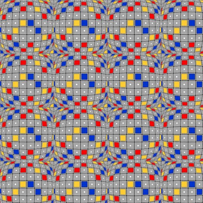 Vinylová Tapeta Konstrukční bezešvé barevné pokřivené kontrolovat mozaika vzorek - Témata