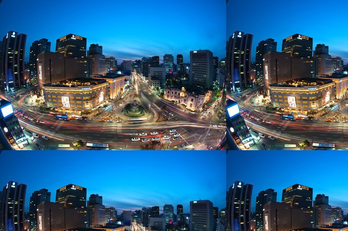 Vinylová Tapeta Korejský nightview - Témata