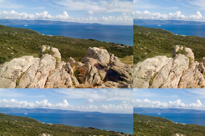 Tapeta Pixerstick Korsika krajiny - Evropa