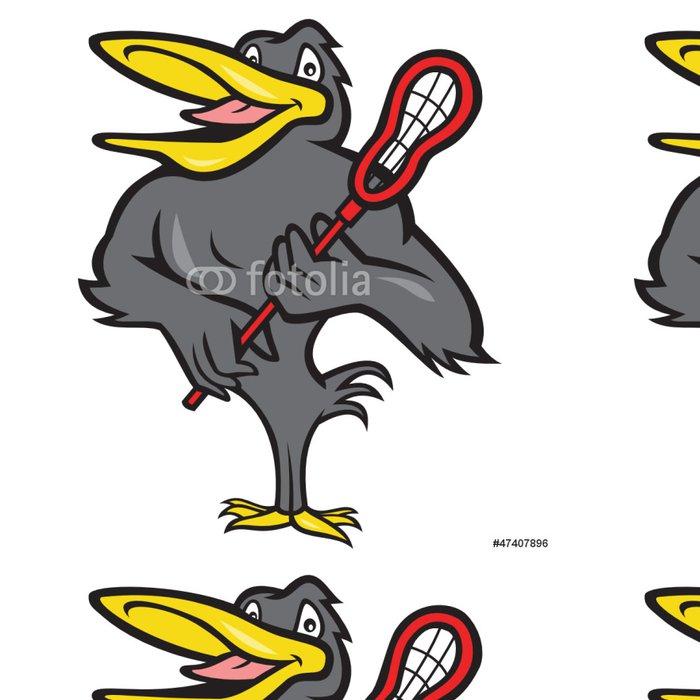 Tapeta Pixerstick Kos S Lacrosse Stick Cartoon - Týmové sporty