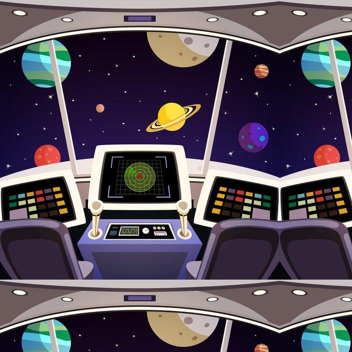 Tapeta Pixerstick Kosmická loď karikatura interiéru - Na cestě