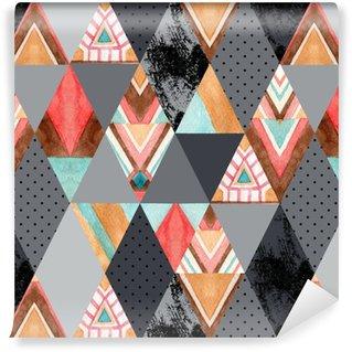 Vinylová Tapeta Kosočtvercový a trojúhelníkový bezešvý vzor.