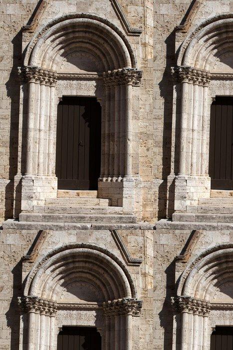 Tapeta Pixerstick Kostel La Collegiata di San Quirico D'Orcia, Toskánsko - Evropa