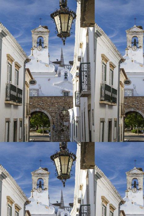 Tapeta Pixerstick Kostel města Faro, Portugalsko. - Témata