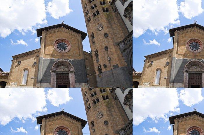 Tapeta Pixerstick Kostel sv Andrea. Orvieto. Umbria. Itálie. - Prázdniny