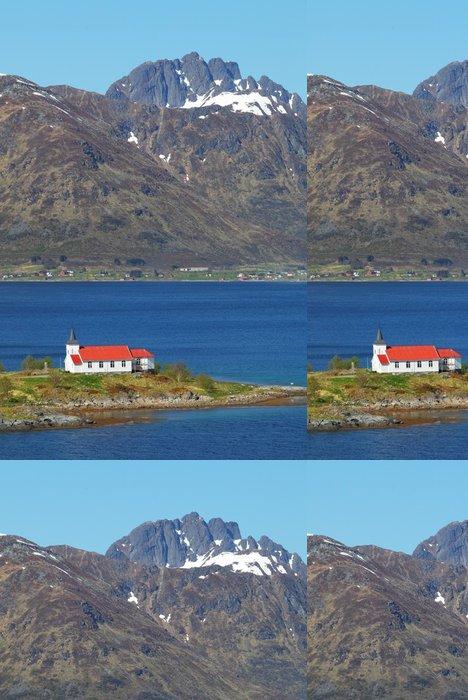 Vinylová Tapeta Kostel v fjordu na Lofoten ostrovech v Norsku - Evropa
