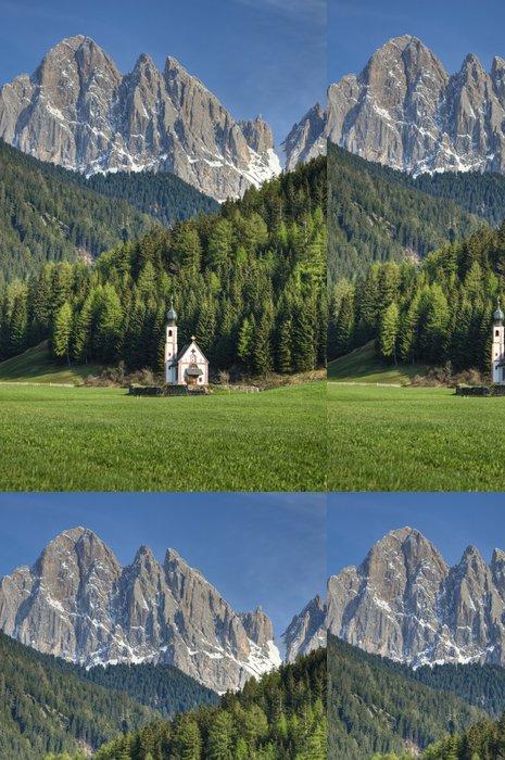 Tapeta Pixerstick Kostel v italských Alpách - Evropa