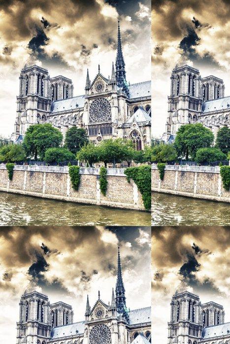 Tapeta Pixerstick Kouzelný obloha katedrály Notre Dame, Paříž - Témata