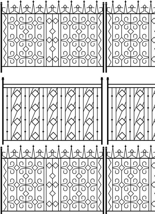 Tapeta Pixerstick Kované železné brány, vrata, oplocení, okna, Gril, zábradlí konstrukce -