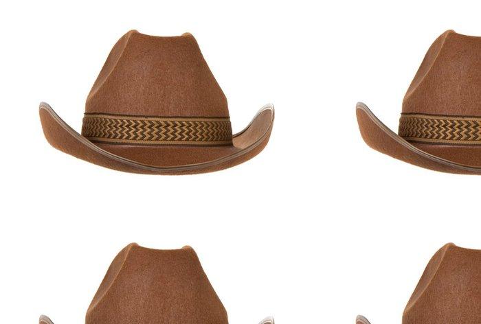 Tapeta Pixerstick Kovbojský klobouk izolovaných na bílém - Móda