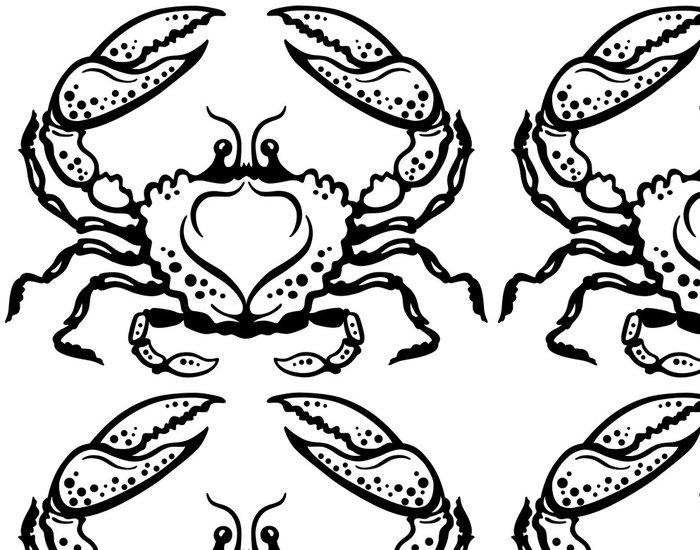 Tapeta Pixerstick Krab černá bílá - Imaginární zvířata