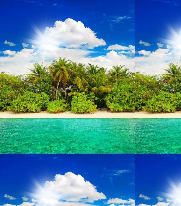 Tapeta Pixerstick Krajina tropický ostrov pláži - Ostrovy