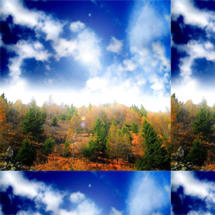 Tapeta Pixerstick Krajiny dřevo s zatažené obloze - Roční období