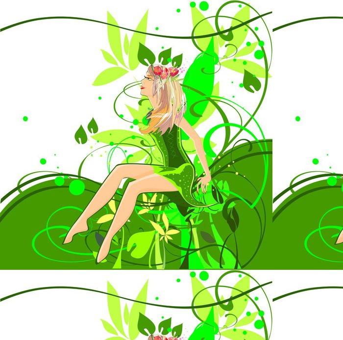 Tapeta Pixerstick Krásná dívka v době květu - Ezoterika