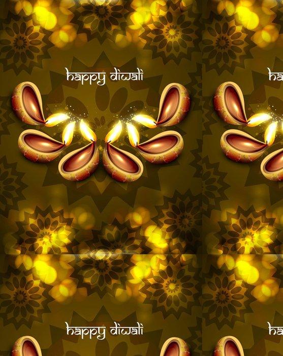 Vinylová Tapeta Krásná diwali diya pozadí vektorové ilustrace - Slavnosti