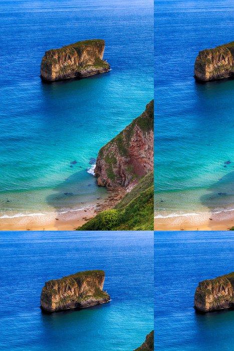 Tapeta Pixerstick Krásná krajina pláž oceán v Asturias, Španělsko - Evropa