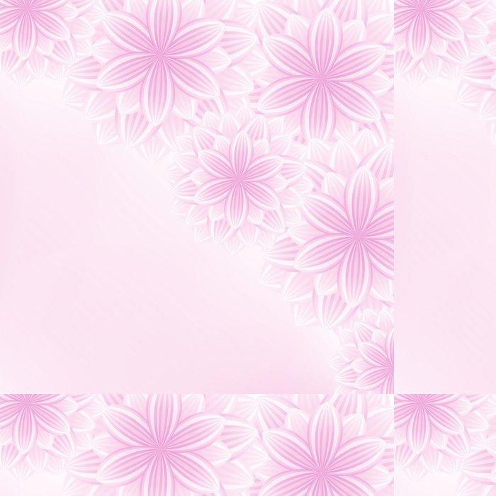 Vinylová Tapeta Krásná krajka květinové růžové pozadí s květinami - Pozadí