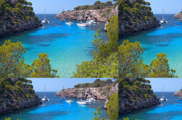 Vinylová Tapeta Krásná pláž Cala Pi v Mallorca, Španělsko - Španělsko
