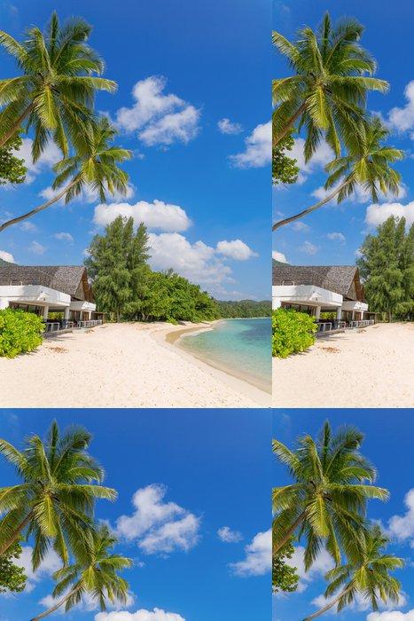 Vinylová Tapeta Krásná pláž na ostrově Mahé, Seychely - Ostrovy