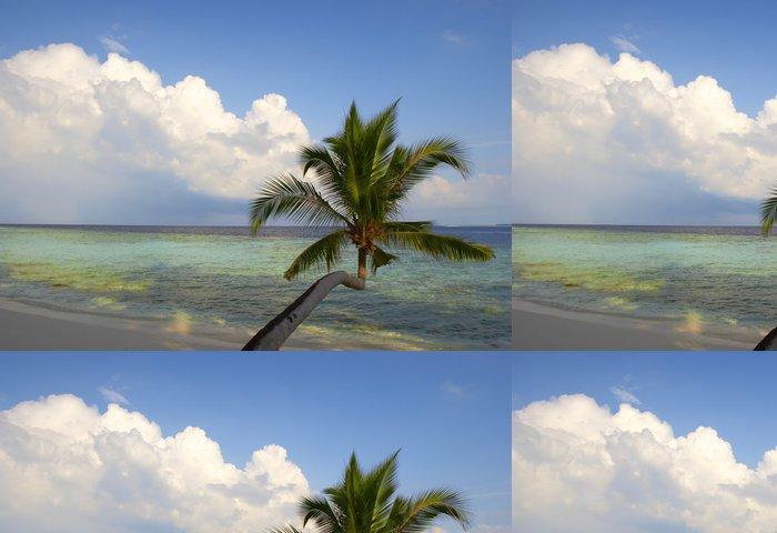 Tapeta Pixerstick Krásná pláž s palmami - Palmy