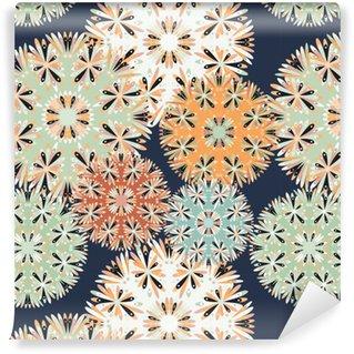 Vinylová Tapeta Krásné bezešvé vzor. dekorativní prvky vektorové ilustrace
