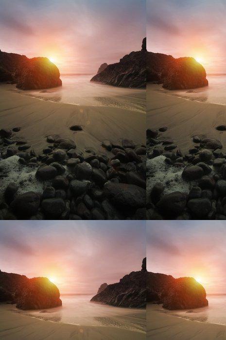 Tapeta Pixerstick Krásné Coastal Sunset - Voda