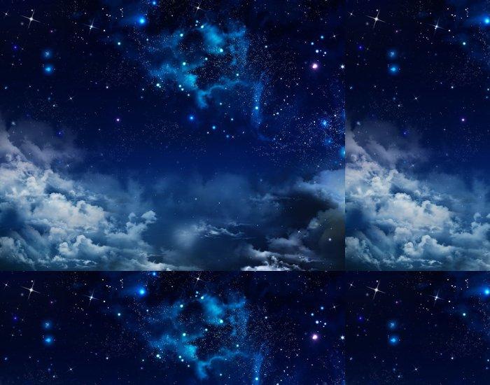 Tapeta Pixerstick Krásné pozadí noční oblohy s hvězdami - Témata