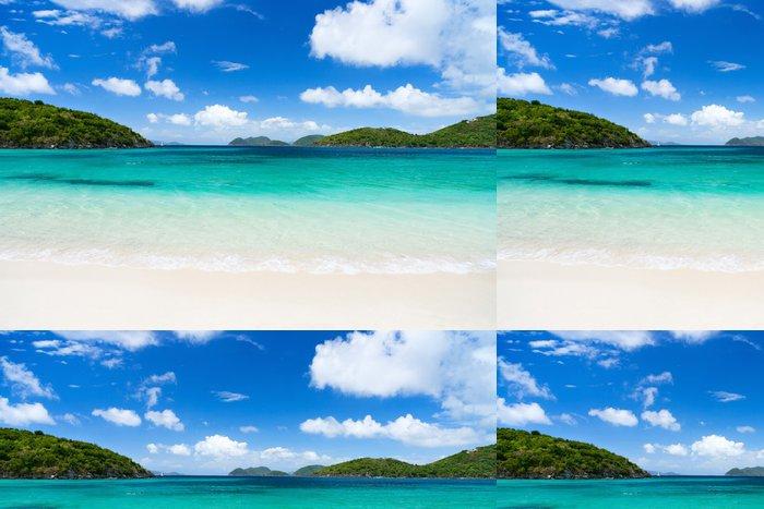 Tapeta Pixerstick Krásné tropické pláže v Karibiku - Voda