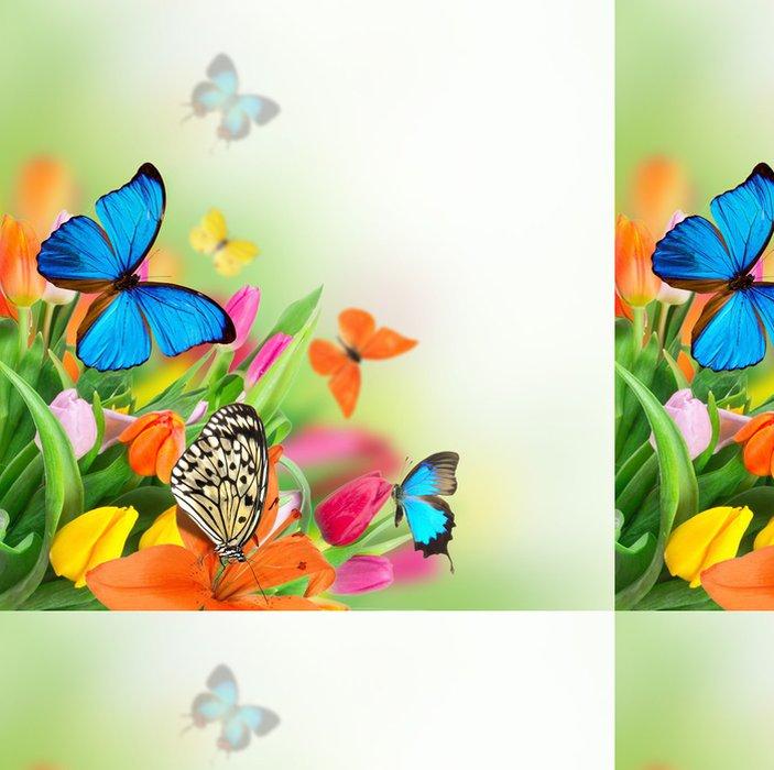 Vinylová Tapeta Krásnou kytici tulipánů. - Témata