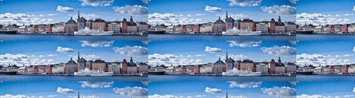 Vinylová Tapeta Krásný pohled na panorama Gamla Stan, Stockholm, Švédsko - Evropa