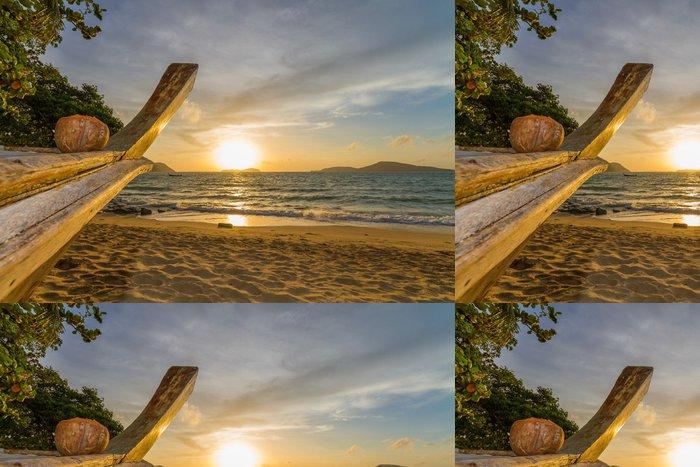 Tapeta Pixerstick Krásný východ slunce v Rawai Phuket - Asie