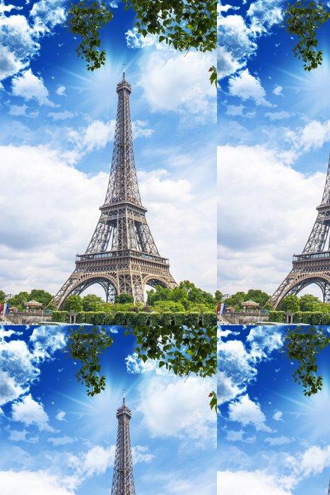Vinylová Tapeta Krásný výhled na Eiffelovu věž - Témata