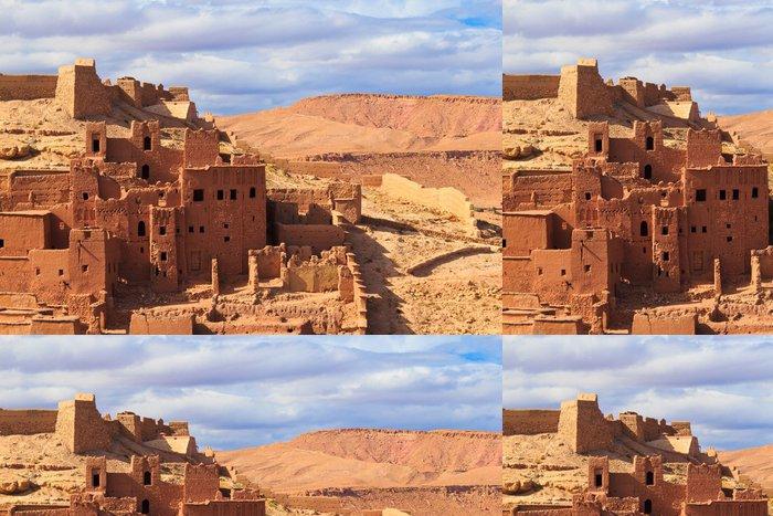 Tapeta Pixerstick Krásný výhled na Kasbah Ait Ben Haddou v Maroku - Témata