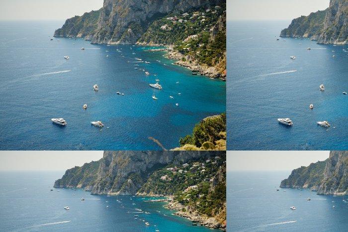 Tapeta Pixerstick Krásný výhled na moře ostrov Capri - Evropa