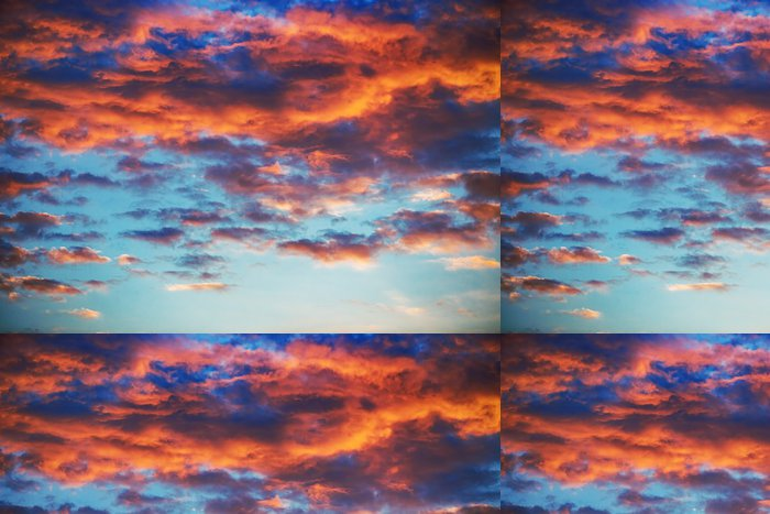 Tapeta Pixerstick Krásný západ slunce obloha s mraky - Jiné pocity