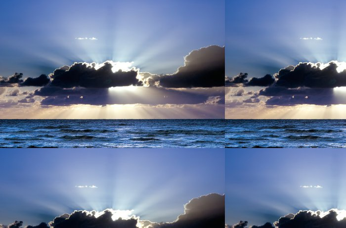 Tapeta Pixerstick Krásný západ slunce - Voda