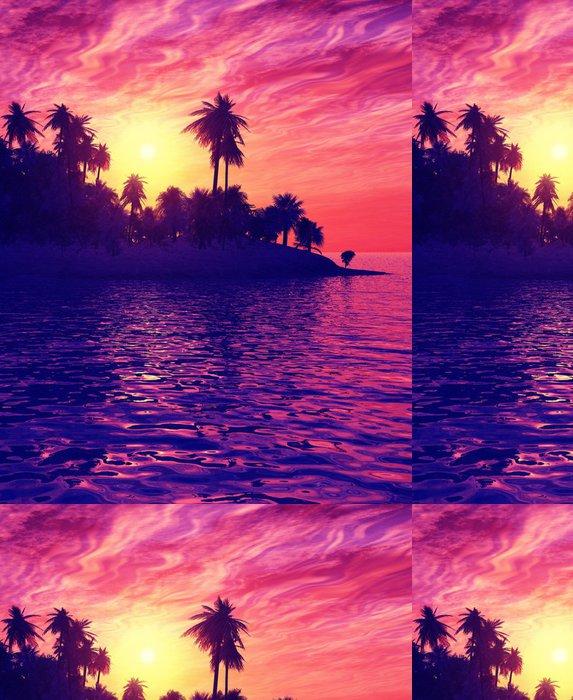 Tapeta Pixerstick Krásný západ slunce - Nebe