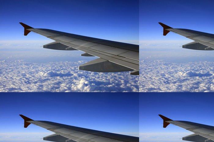Tapeta Pixerstick Křídlo letadla - Nebe