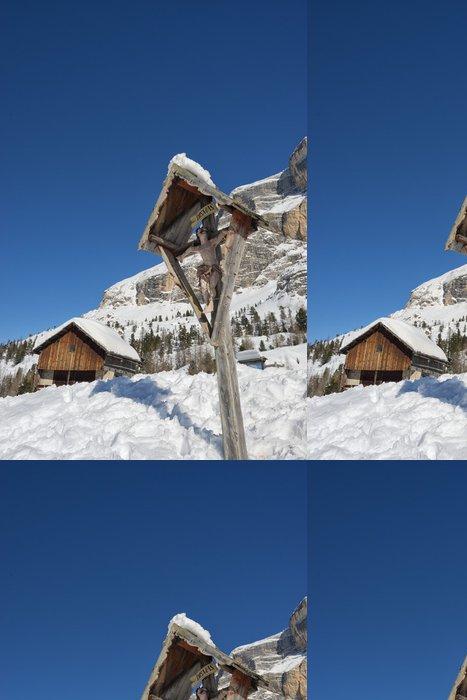 Tapeta Pixerstick Kříž na vysoké hoře - Hory