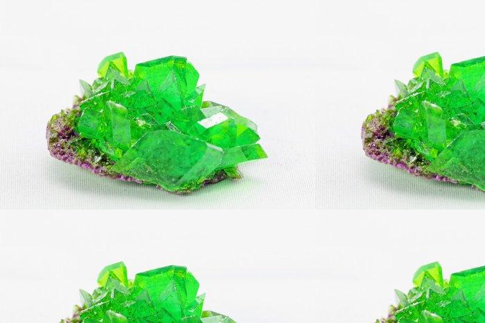 Tapeta Pixerstick Krystal makro fotografie ve smaragdové barvě - Surové materiály