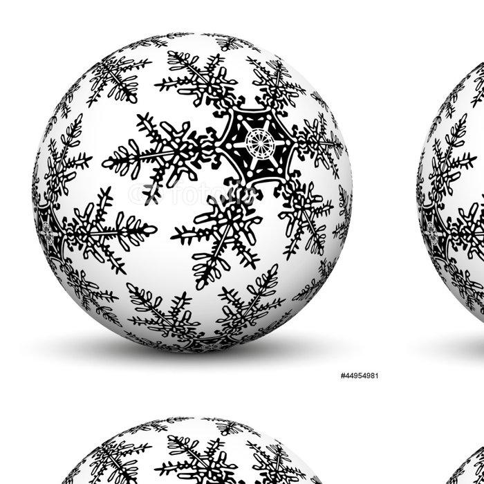 Tapeta Pixerstick Kugel, 3D, Weiß, Weihnachten, Sphere, Flocke, Kristall, Deko - Mezinárodní svátky