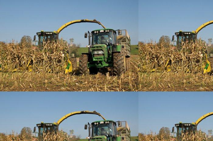 Vinylová Tapeta Kukuřice plodin s kukuřičnou vrtulníku na podzim - Semena