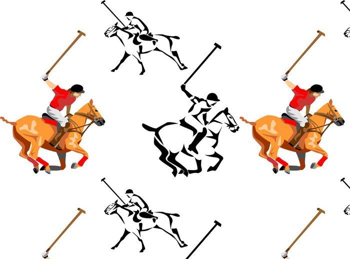 Tapeta Pixerstick Kůň hráč póla - Týmové sporty