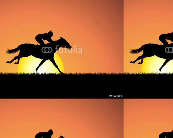 Tapeta Pixerstick Kůň silueta - Savci