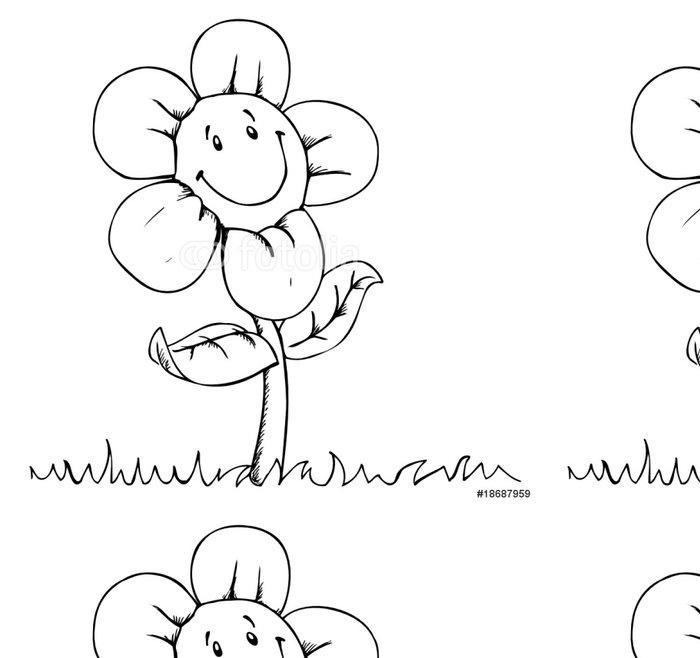 Tapeta Pixerstick Květina, louka, léto, šťastný, květ, - Národní svátky