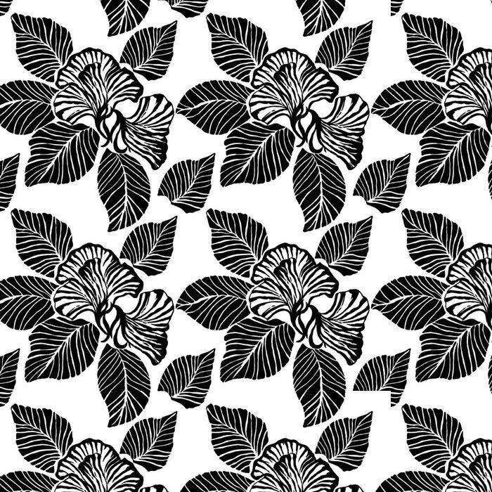 Tapeta Pixerstick Květina skica - Pozadí