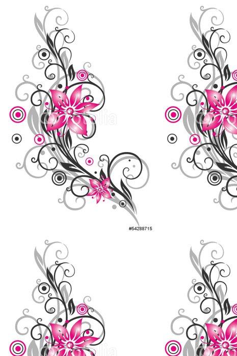 Vinylová Tapeta Květina, úponky, filigránové, květinový, černá růžová - Osud