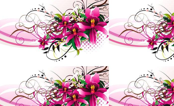 Tapeta Pixerstick Květina vektorové ilustrace - Jiné pocity