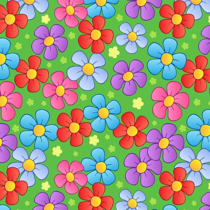 Tapeta Pixerstick Květinová bezešvé pozadí 1 - Struktury