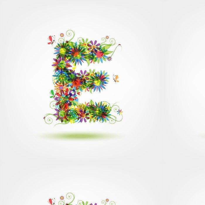 Tapeta Pixerstick Květinová dopis pro svůj design - Vzdělávání